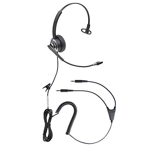 Professional WordCommander 3.5 Dual Plug Voice to Text Stereo Voice Recognition Headset with Noise Cancelling Microphone for Improved Dictation Accuracy
