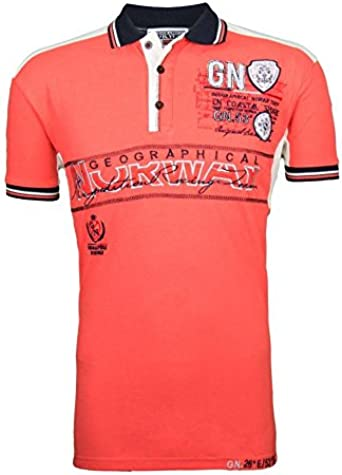Geographical Norway Kapable Polo, color coral rojo: Amazon.es ...
