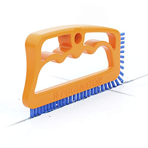 Fuginator Scrub Brush for Tile and Grout: Stiff Nylon Bristle Scrubbing Brush - Bathtub and Shower Scrubber for Floor Joints  and Tile Seams - Cleaning Brushes and Supplies for ()