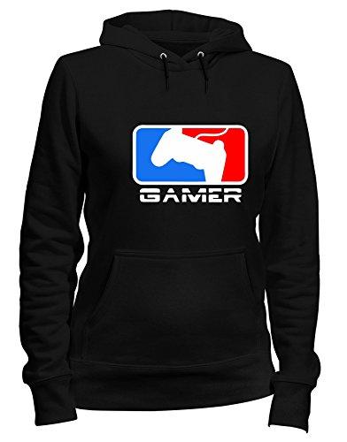 Speed Gamer Cappuccio Felpa Shirt Donna Nero Tr0049 rgArq8Y