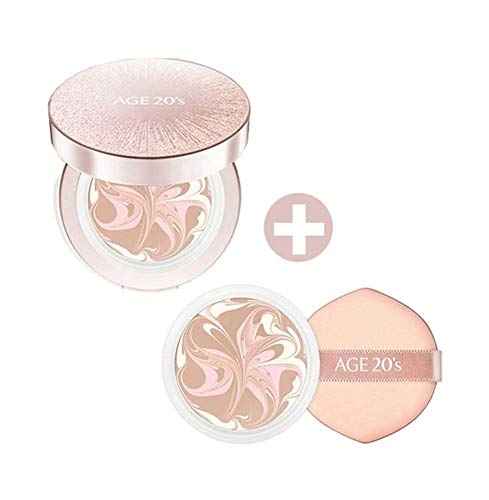 New in 2019 Season12 - Age 20's Essence Cover Pact LX 12.5g (0.44oz) include Refill - Korean Beauty Makeup (#21. Light Beige) (Best Foundation Of 2019)
