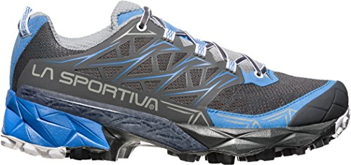 La Spartiate Mutant Chaussures De Course De Trail Femmes - Ss18 Akyra Femme Carbone / Bleu Cobalt Talla: 40.5
