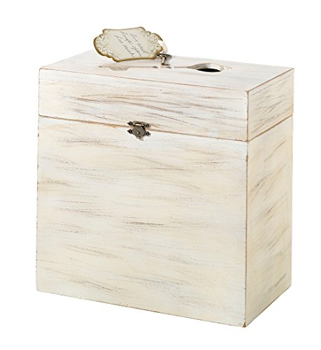 White Country Wooden Wedding Card Box