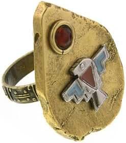 T.R.U. Burnished Brass-Tone Thunderbird Fashion Ring Size 8