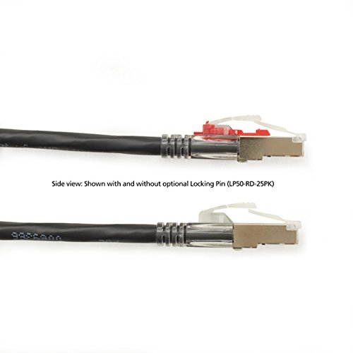 Black Box GigaBase 3 CAT5e 100-MHz Shielded Black 7-ft. Lockable PVC Cable 2.1-m F//UTP Stranded