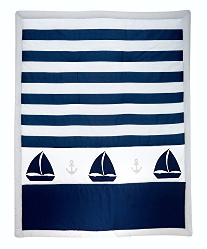 Nautica Kids Nursery Separates Comforter, Navy/Grey/White