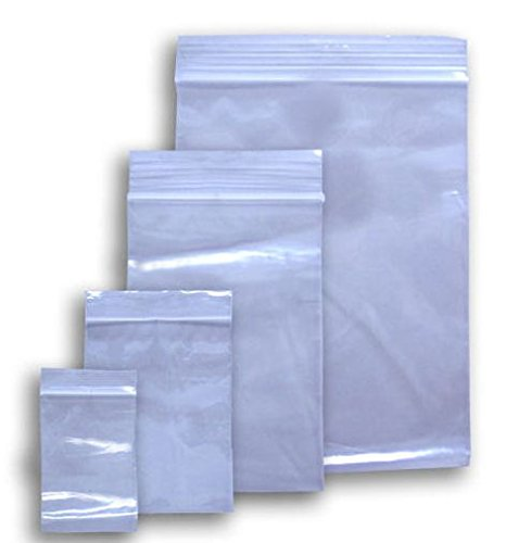1000 Ziplock 4x6 Small Reclosable Clear Plastic Poly Bags 2 Mil 4