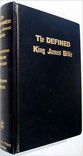 the defined king james bible a e waite 9781568480244 amazon com