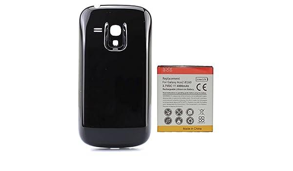 Amazon.com: 4000mAh Batería Extendida con Carcasa Negra para ...