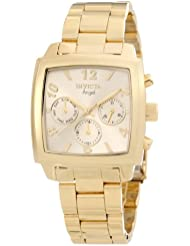 Invicta Womens 12101 Angel Gold Dial 18k Gold Ion-Plated Stainless Steel Watch