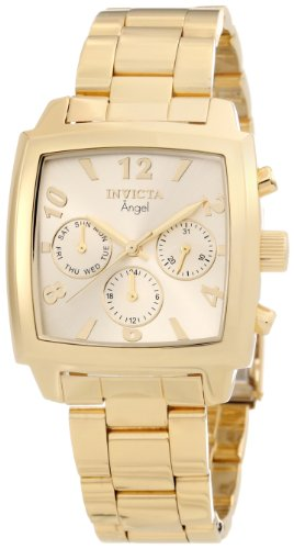(Invicta Women's 12101 Angel Gold Dial 18k Gold Ion-Plated Stainless Steel Watch )