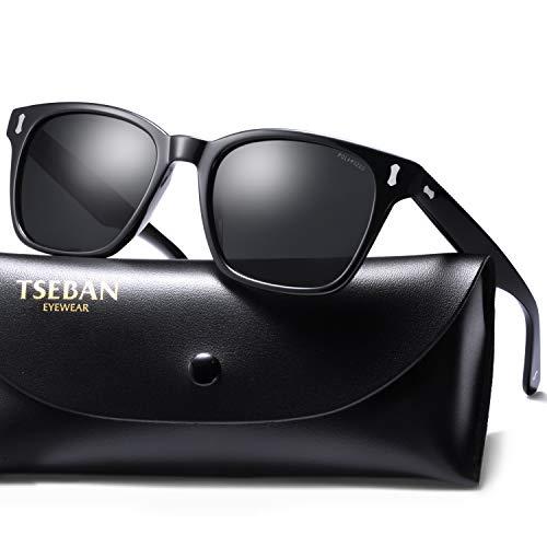 T.SEBAN Vintage Polarized Sunglasses for Men Retro Style Acetate Frame UV400 Protection