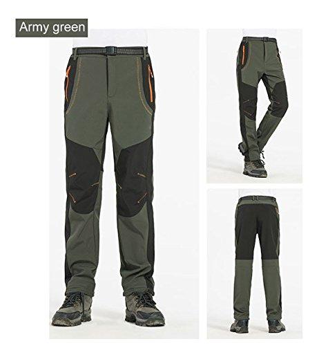 Polaire Coupe Plein En Pantalon Homme Pour Automne Vert vent Softshell Air Randonnée De Hiver Imperméable Alleza AIvwq0pp