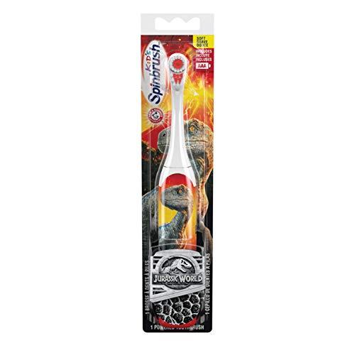 テレビ局アサー汗海外直送品 お子様用ジェラシックワールド電動歯ブラシ 〈ソフト〉 ARM & HAMMER™ Spinbrush™ Jurrassic World 1 Powerd Thoothblash Soft