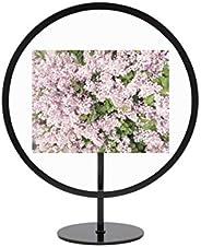 Porta Retrato Circular Decorativo para Mesa e Parede para Fotos 10 x 15 cm, Umbra, Preto