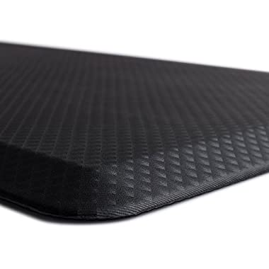 The Original 3/4  KANGAROO (TM) Non-Slip Anti-Fatigue Comfort Mat, Ergonomically Engineered, Non-Toxic, Waterproof, 32x20 inches (Black)