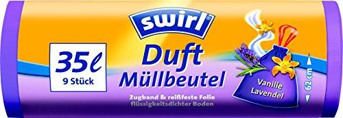 Swirl 35 l Duft Müllbeutel Vanille Lavendel, 7er Pack (7 x 9 Stück)