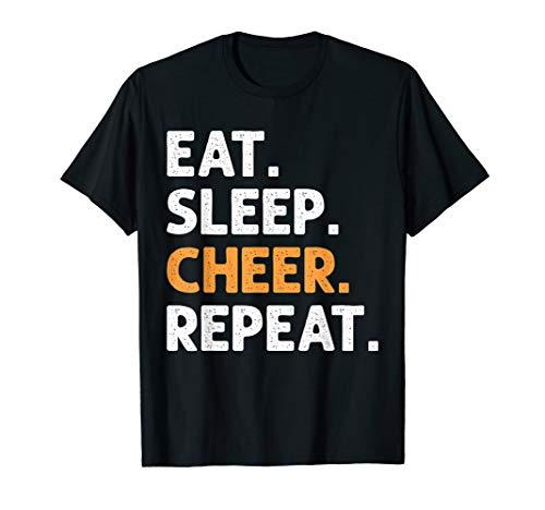 Eat Sleep Cheer Repeat Cheerleading T-Shirt