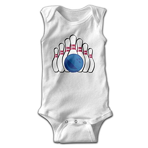 MMSSsJQ6 Bowling Clipart Baby Newborn Crawling Clothes Sleeveless Rompers Romper Jumpsuit White