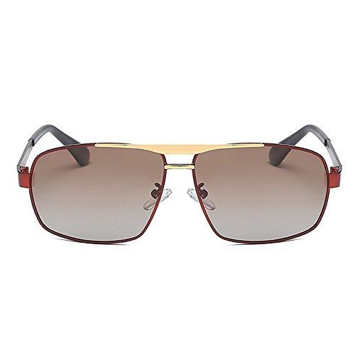 de Sol Hombres Yxsd Conducción polarizadas Deporte Marco Ultra Gafas de Maroon de Ligero los SunglassesMAN Brown de de Color Metal WtwnP0qqF