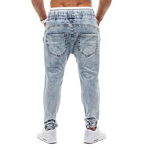 Inverno Moda Jeans Elegante Casual Tinta Inverno Pantaloni Chairo Da Dalla Uomo Unita Blu Elastico Sonnena Denim Slim E Personalità In Autunno wPAq7O7