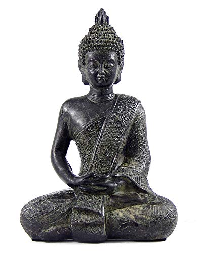 Bellaa 22739 Buddha Statues Meditating Sitting Dhyana Mudra