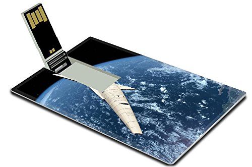 Luxlady 32GB USB Flash Drive 2.0 Memory Stick Credit Card Size Space ships in space IMAGE 20557878