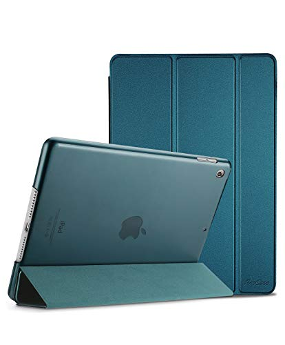 (ProCase iPad Mini 5 2019 Case 5th Generation iPad Mini, Slim Lightweight Stand Protective Case Translucent Frosted Shell Smart Cover for 2019 Apple iPad Mini 5 7.9 Inch -Teal)