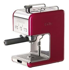 Kenwood ES 021 kMix - Máquina de café espresso con portafiltros, 1100 W, 15 bares, color rojo