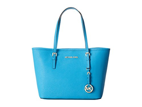 Michael Kors Jet Set Small Saffiano Travel Tote (Summer Blue) by MICHAEL Michael Kors