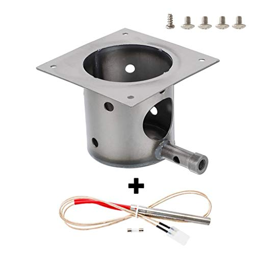 ZHOUWHJJ Fire Pot Burn Pot and Hot Rod Ignitor Kit Replacement Parts for Traeger and Pit boss Pellet Grill ()