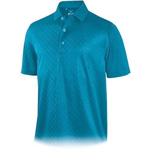 Jacquard Diamond Polo - Monterey Club Mens Diamond Jacquard Polo Teal XL