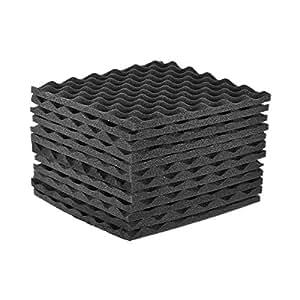 SODIAL 12 Pack Studio Acoustic Foams Panels Sound Insulation Foam 30x30cm