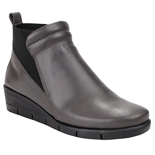 The Flexx Womens/Ladies Padded Wedge Ankle Boots Smoke cx8uI0X5P