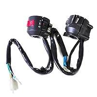 "1 Pair Motorcycle 7/8"" Handlebar Horn Turn Signal Electrical Start Switch 12V fit for Honda Kawasaki Suzuki Yamaha Harley BMW Ducati"