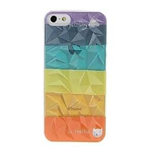 ZCL-Modelo del arco iris de la raya Efecto Diamante caja de plástico duro para el iPhone 5/5S