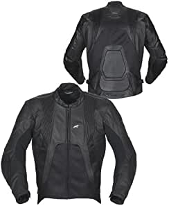 Alpinestars Alloy Leather Jacket, Apparel Material: Leather, Size: 58, Primary Color: Black 3103581058