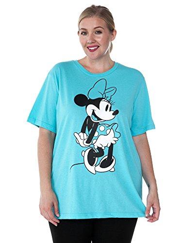 Disney Plus Size Women\'s T-Shirt Minnie Mouse Graphic Print (Aqua ...
