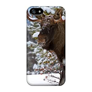 For Case Iphone 5/5S Cover Hard Back With Bumper Cases Covers Snowy Moose