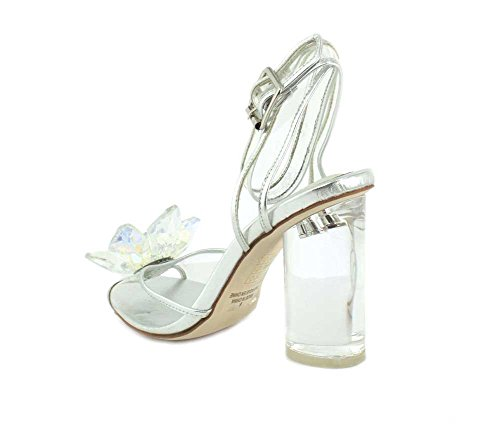Jeffrey Campbell Womens Violin HH Pump Clear Silver y3X84
