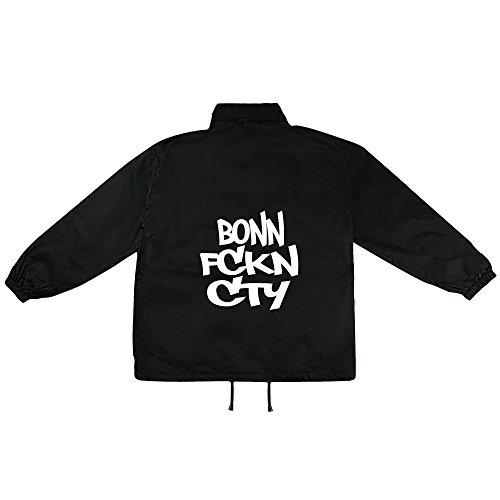 Bonn City Grafitti Motiv auf Windbreaker, Jacke, Regenjacke, Übergangsjacke, stylisches Modeaccessoire für HERREN, viele Sprüche und Designs
