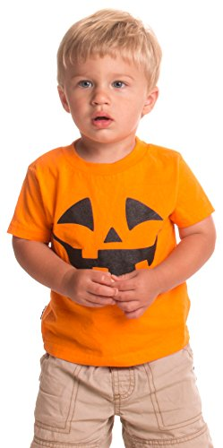 Little Boys' Pumpkin Face Jack O' Lantern | Cute Toddler Halloween T-shirt-4T -