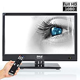 Pyle 15.6-Inch 1080p LED TV | Ultra HD TV | LED Hi Res Widescreen Monitor with HDMI Cable RCA Input | LED TV Monitor…