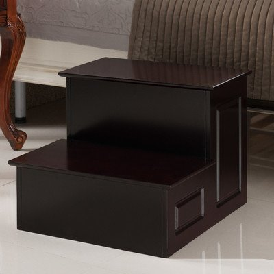 2-Step Solid Wood / Veneer Step Stool Finish: Cherry
