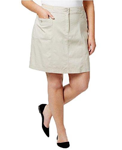 Karen Scott Womens Plus Knee Length Casual Skort Tan 20W by Karen Scott
