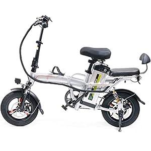 JXH 14 Pollici Pneumatici E-Bike 3 Equitazione modalità di 25 Km/H 22Ah Batteria al Litio, Sellino Regolabile, Doppio…