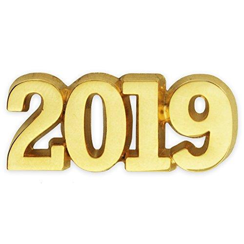(PinMart Gold Year 2019 School, Graduation, New Years, Anniversary Lapel Pin)