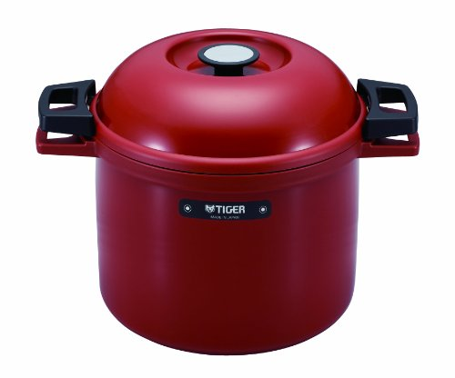TIGER NFH-G450 Non-Electric Thermal Slow Cooker 4.75qts / 4.5L, Red