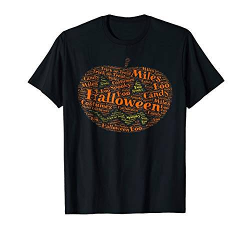 Miles Halloween Word Art T-Shirt | Jack-o-lantern ()