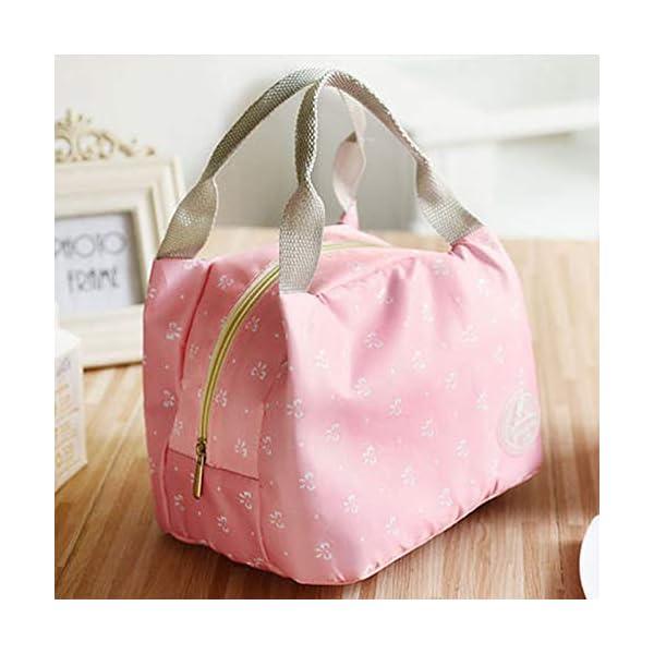 fablcrew Borsa a pranzo portatile borsa pasto Lunch Bag termica termico isolato per Ecole Ufficio Viaggio Picnic 4 spesavip